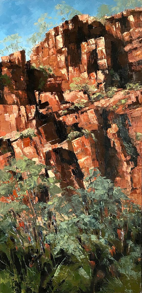 Jana Vodesil-Baruffi - 'Rock Face, Ord River, Kimberley'