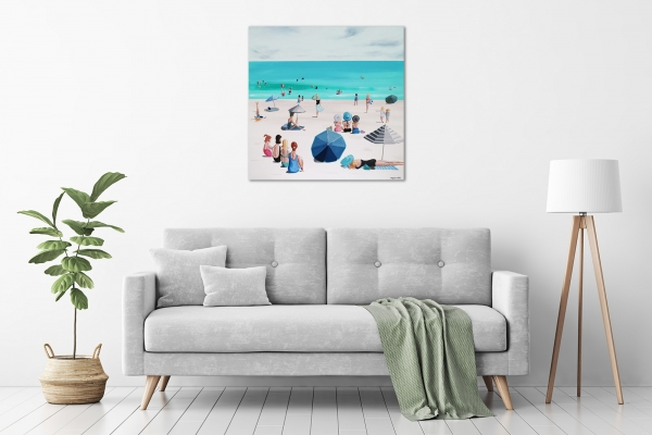 Jaqueline Burgess - 'Beach Parade' in a room