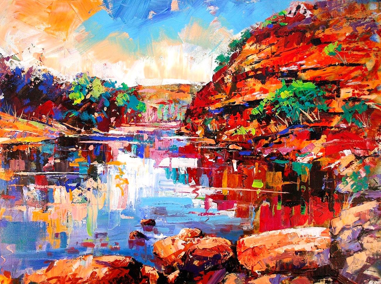 Jos Coufreur - 'Murchison River II, Kalbarri'