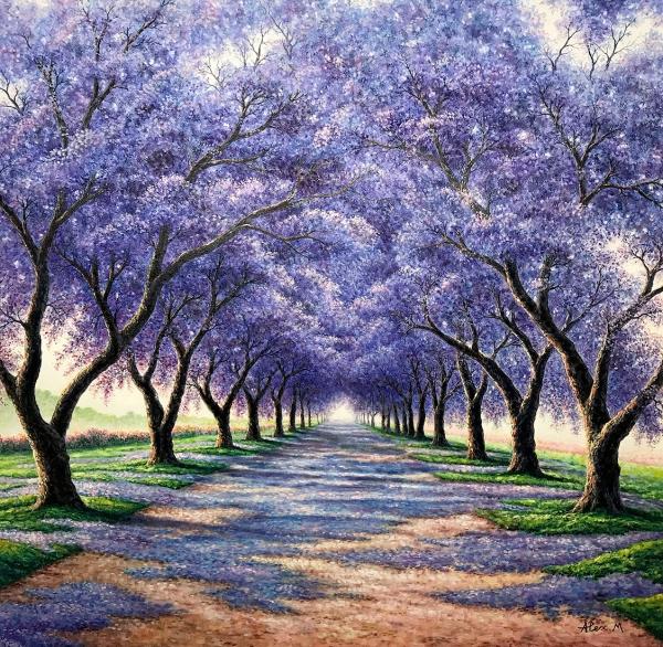 Alex Mo - 'Jacaranda Flowers'