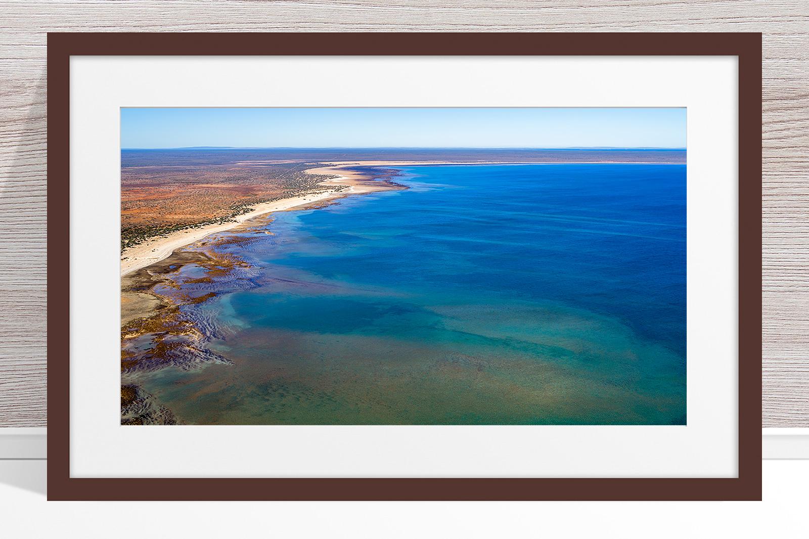 Jason Mazur - 'Hamelin Pool, Shark Bay 769' Dark Wood Frame