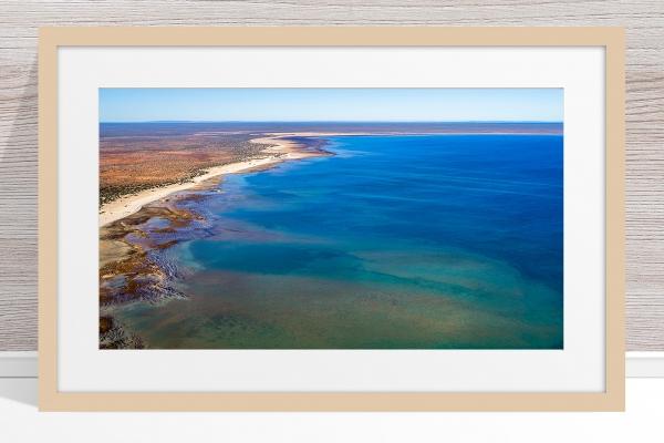 Jason Mazur - 'Hamelin Pool, Shark Bay 769' Light Wood Frame