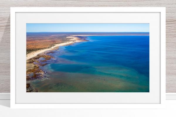 Jason Mazur - 'Hamelin Pool, Shark Bay 769' White Frame