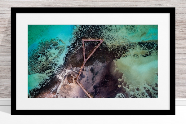 Jason Mazur - 'Stromatolites, Hamelin Pool, Shark Bay 885' Black Frame