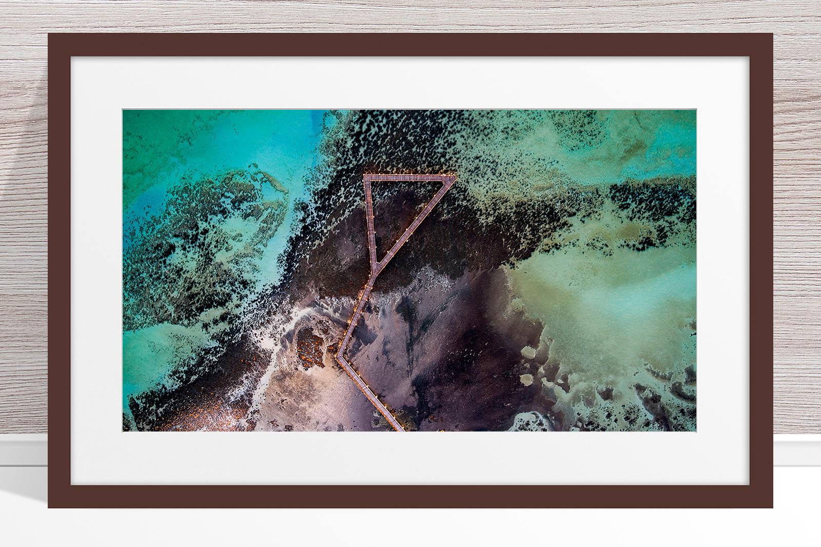 Jason Mazur - 'Stromatolites, Hamelin Pool, Shark Bay 885' Dark Wood Frame