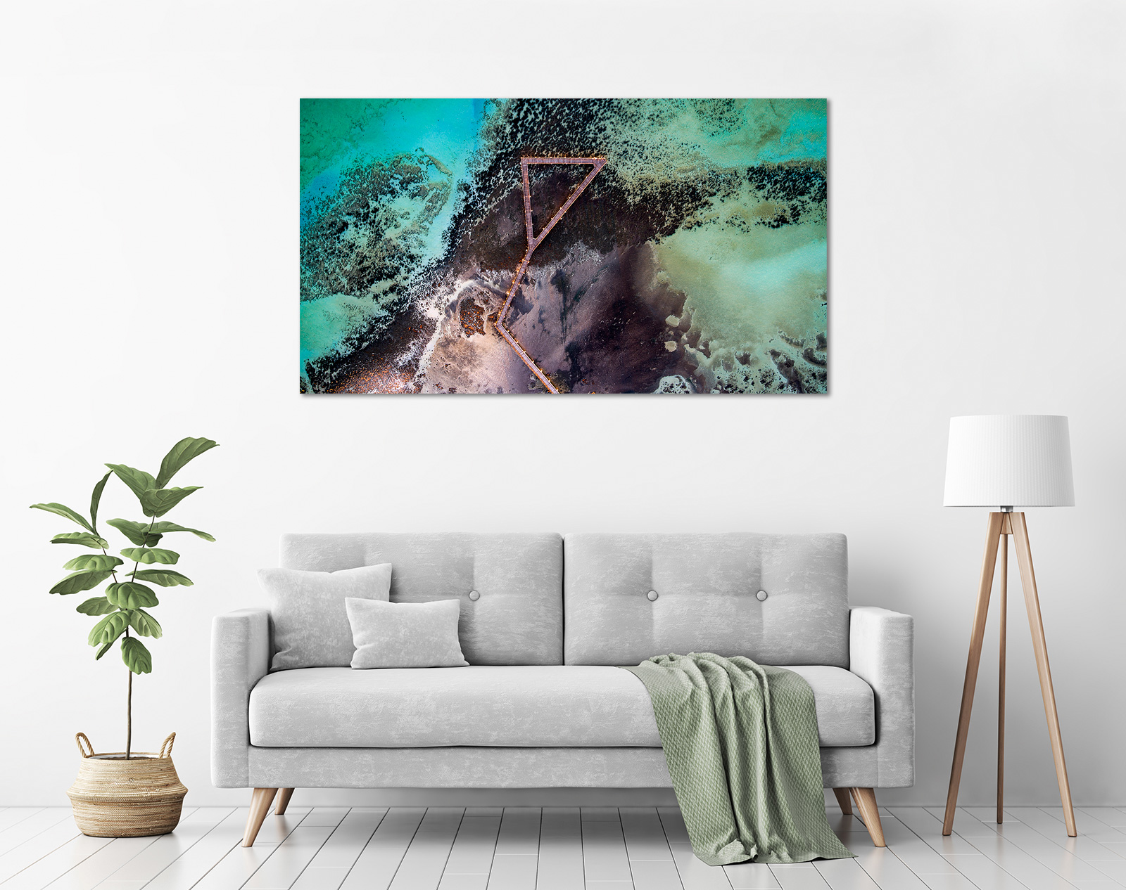 Jason Mazur - 'Stromatolites, Hamelin Pool, Shark Bay 885' in a room