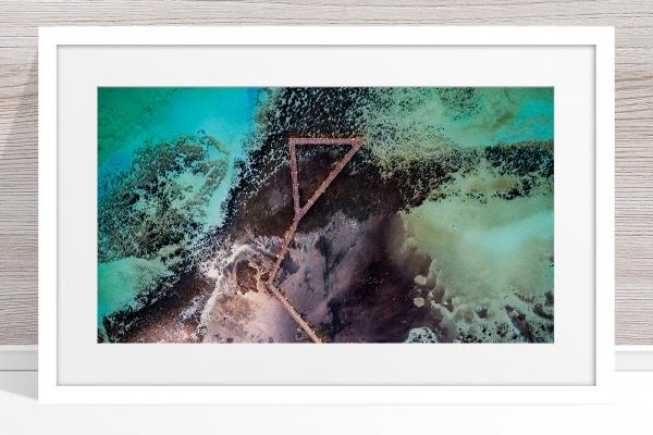 Jason Mazur - 'Stromatolites, Hamelin Pool, Shark Bay 885' White Frame