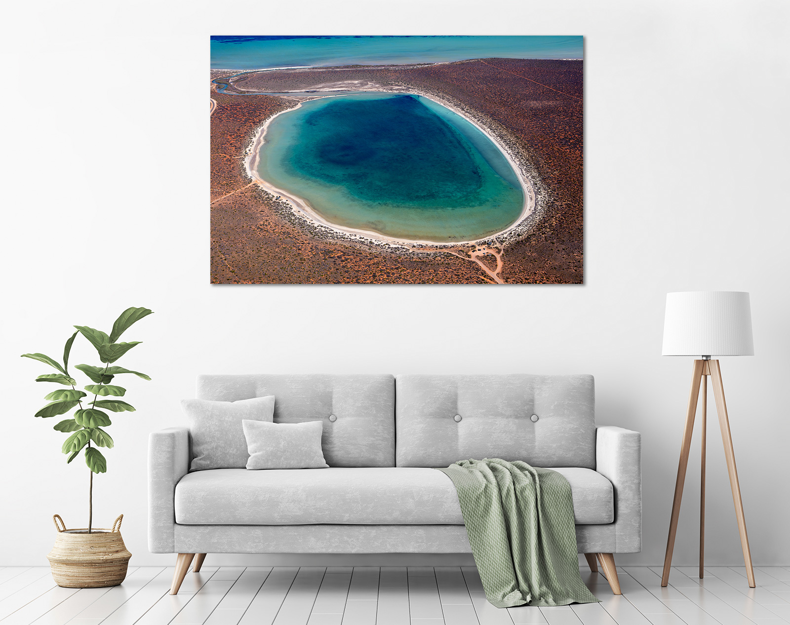 Jason Mazur - 'Little Lagoon, Shark Bay 303' in a room