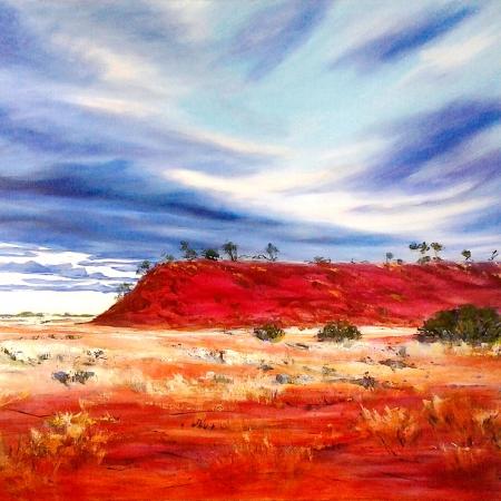 Lynne Boladeras - 'Maybe Rain at Curara Soak'
