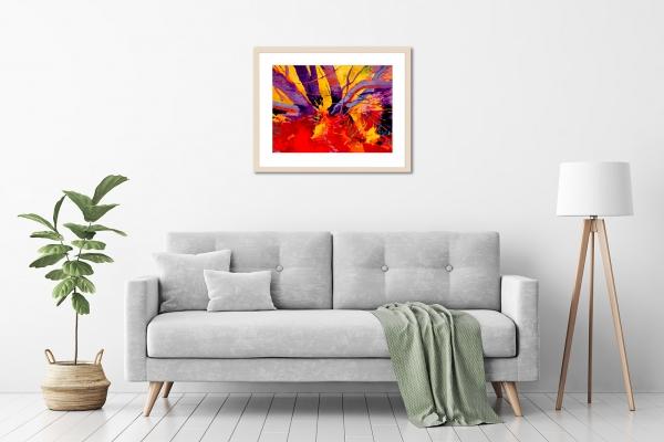 Marek Herburt - 'Against The Sun' Framed, in a room