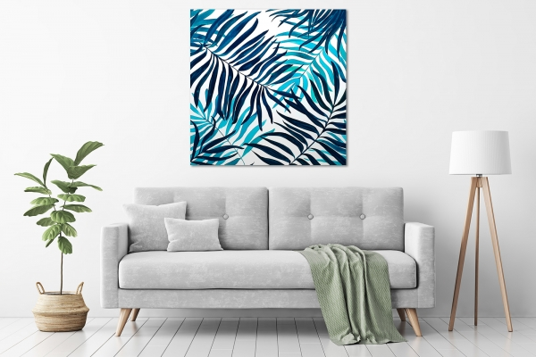 Angela Hawkey - 'Beneath The Palms' in a room