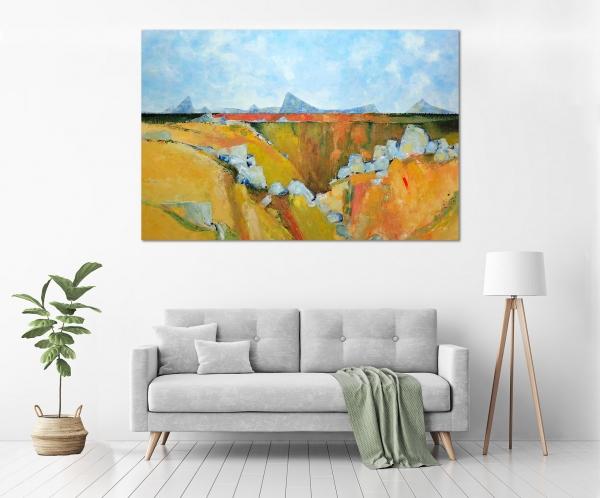 John Graham - 'Australian Landscape' in a room