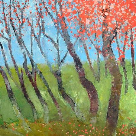 John Graham - 'Cherry Blossom Landscape'