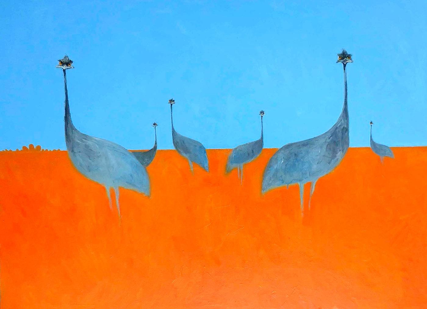 John Graham - 'Emu Flock'
