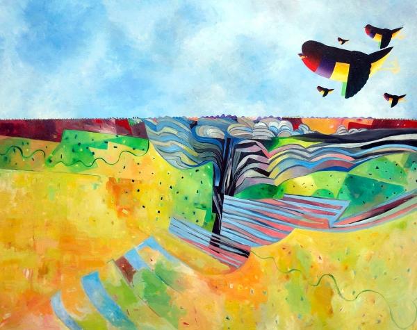 John Graham - 'Gould Finch Landscape'