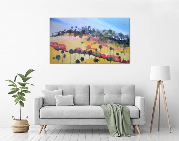 John Graham - 'Kangaroo Painting, Number II' in a room