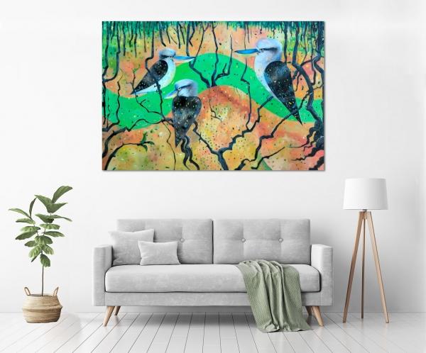 John Graham - 'Kookaburra Creek' in a room
