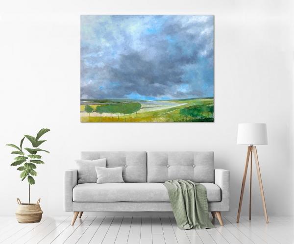 John Graham - 'Peninsula Landscape' in a room