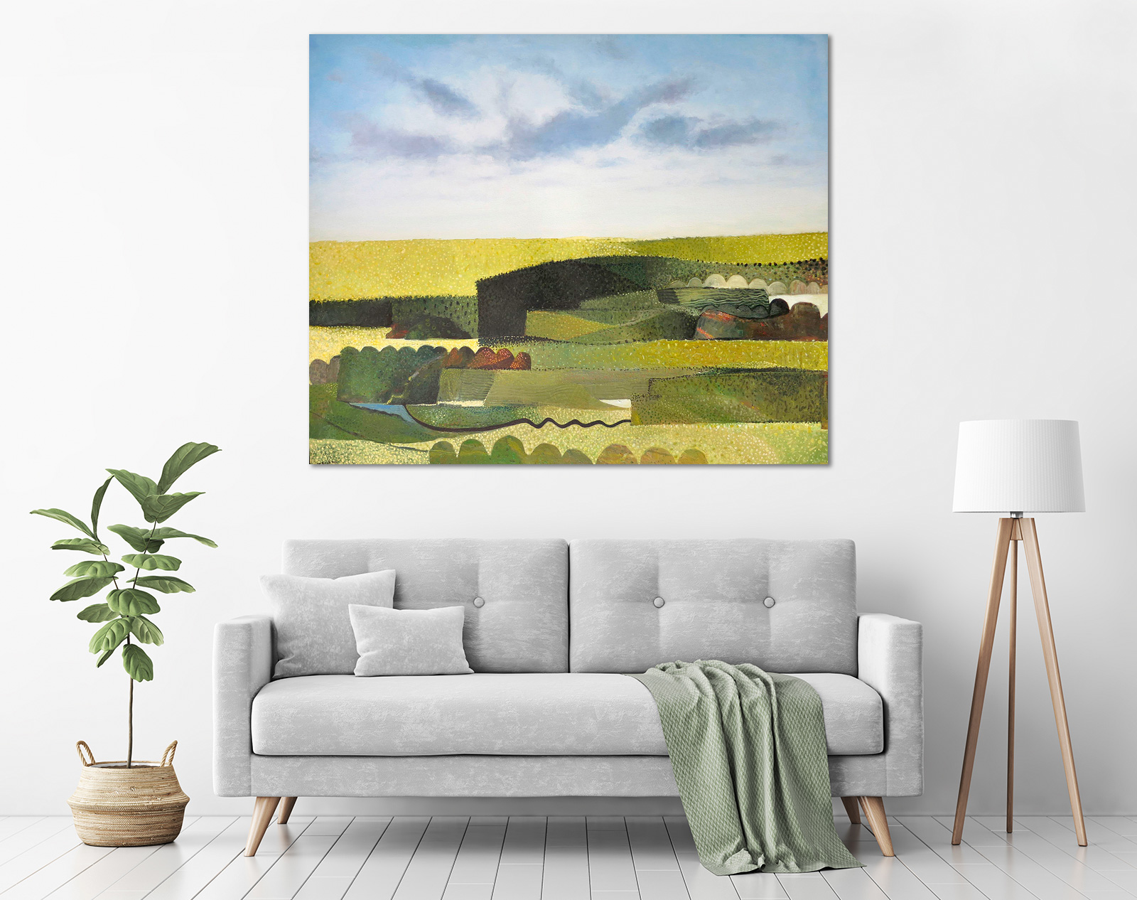 John Graham - 'Summer - Abstracted Landscape' in a room