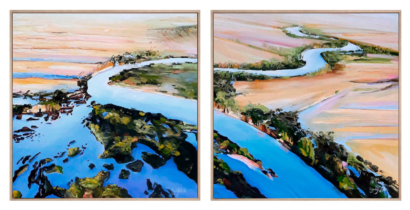 Sandy Weule - 'Flood Waters I and II'
