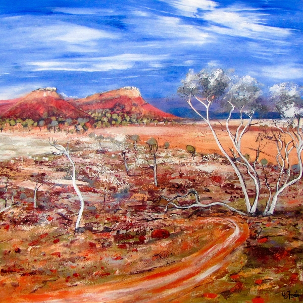 Carole Foster - 'Arid Land Near Coopers Creek'