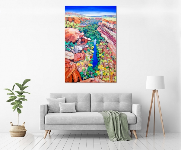 Carole Foster - 'Ord River' in a room
