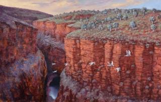 Colin Atkins - 'Karijini Diptych' Left Painting