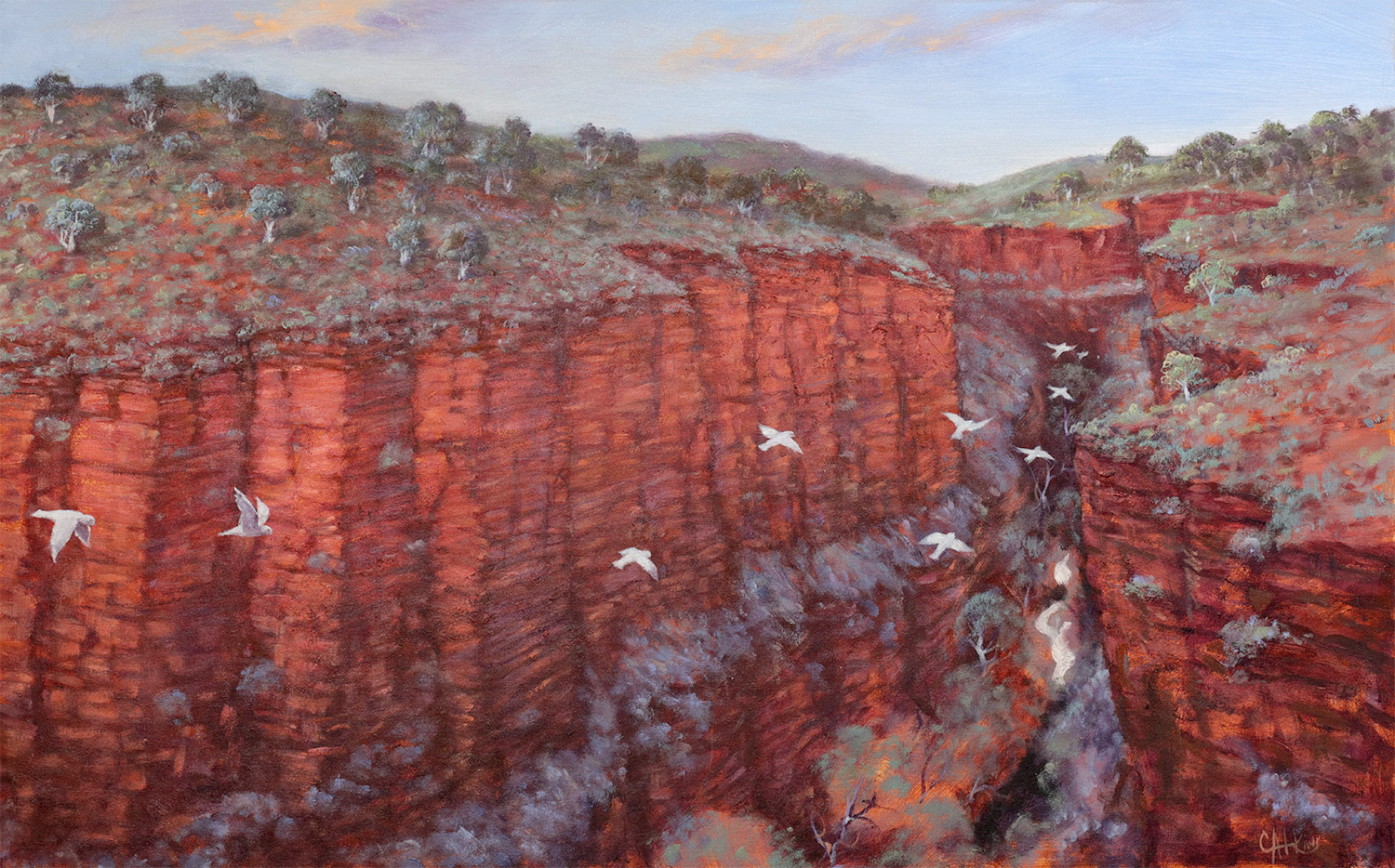 Colin Atkins - 'Karijini Diptych' Right Painting