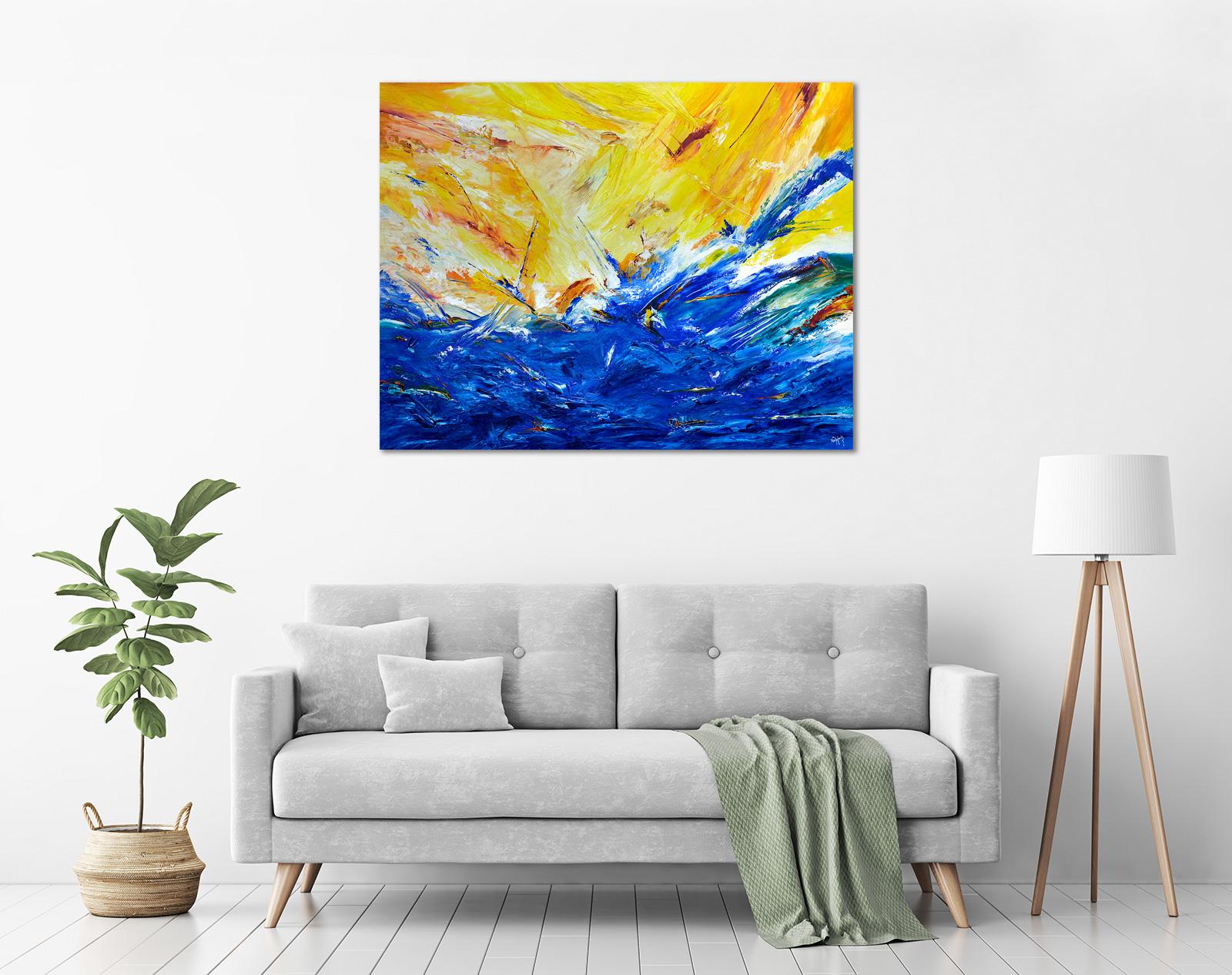 Ida Ernhardt - 'Blue Lagoon' in a room