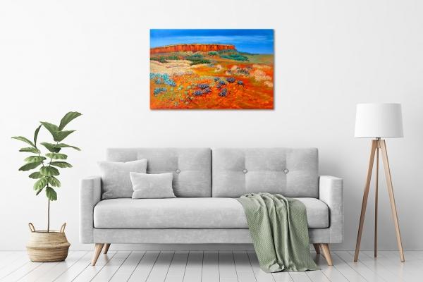 Lindy Midalia - 'Outback Vista' in a room