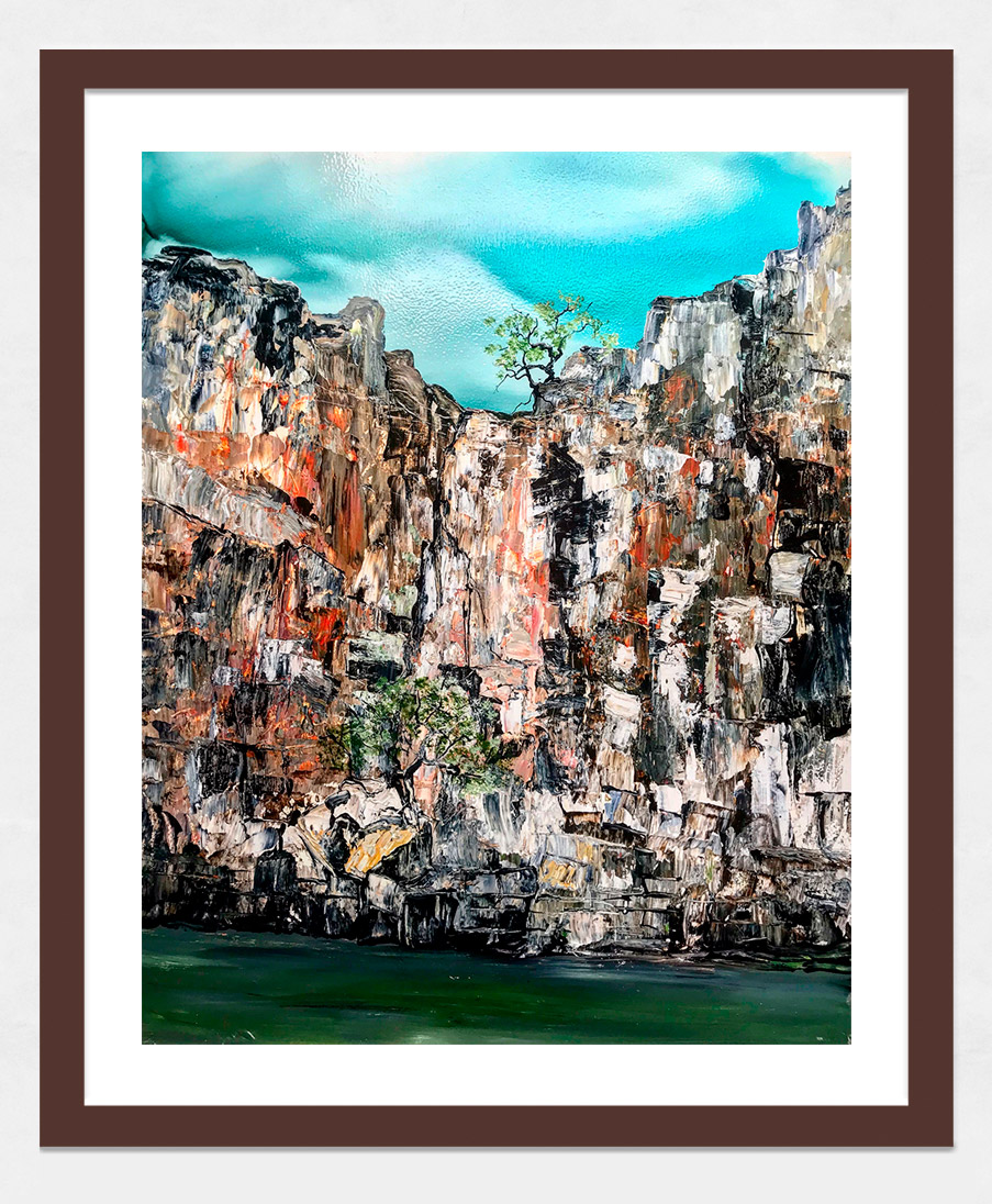 Meg Lewer - 'Up The Berkley' Dark Wood Frame