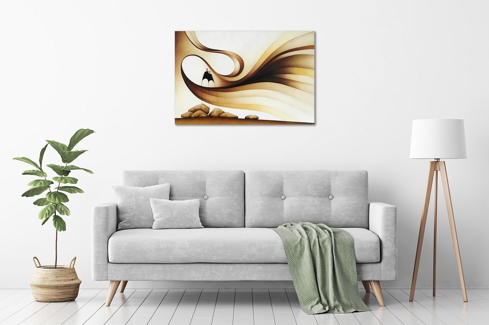 Stephen Gunner - 'Ochre Winds' in a room