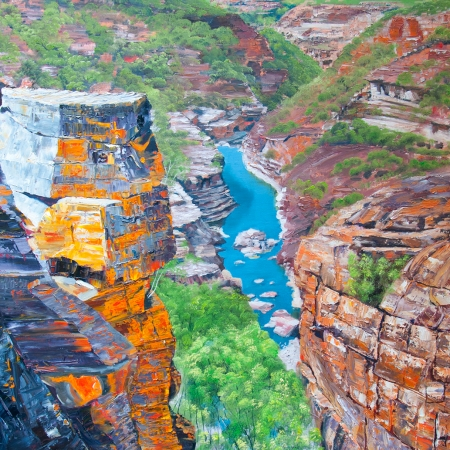 'The Eye of the Citadel', Murchison River I, Kalbarri National Park