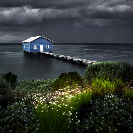 Approaching Storm, Boatshed, Crawley WA