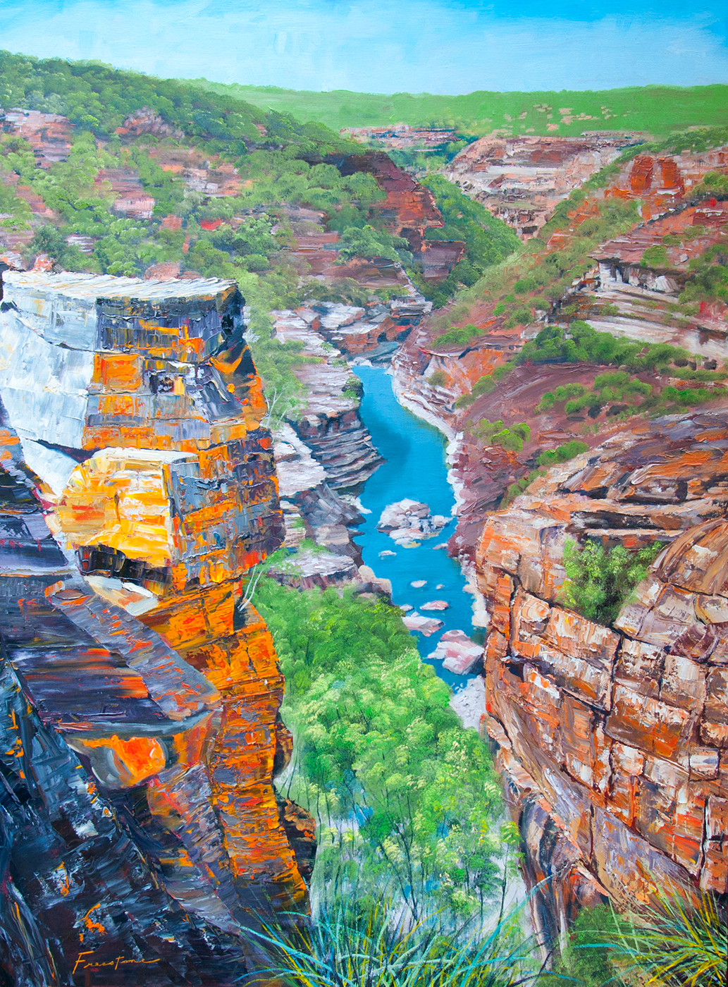 The Eye of the Citadel, Murchison River, Kalbarri