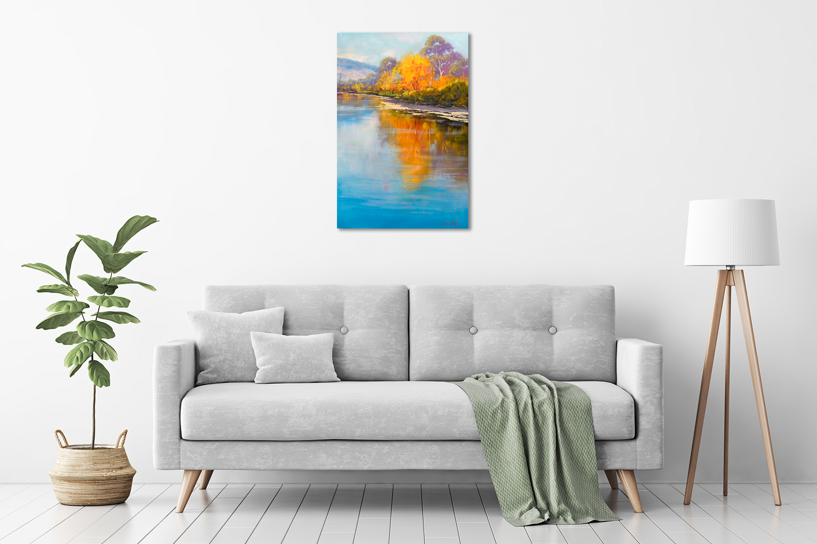 Autumn Colours, Tumut River in a room