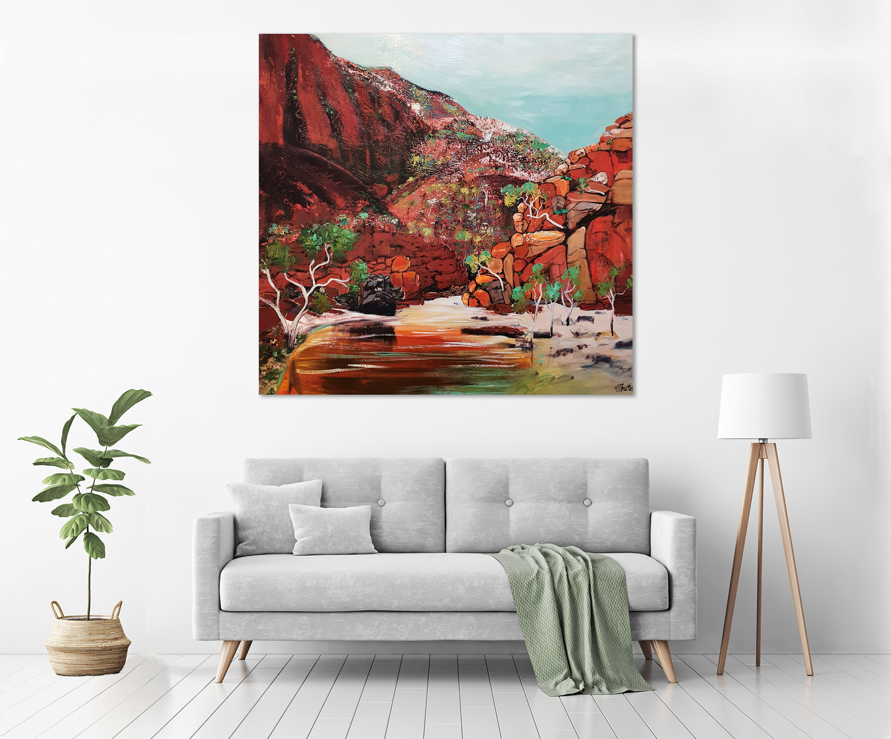 Ormiston Gorge in a room