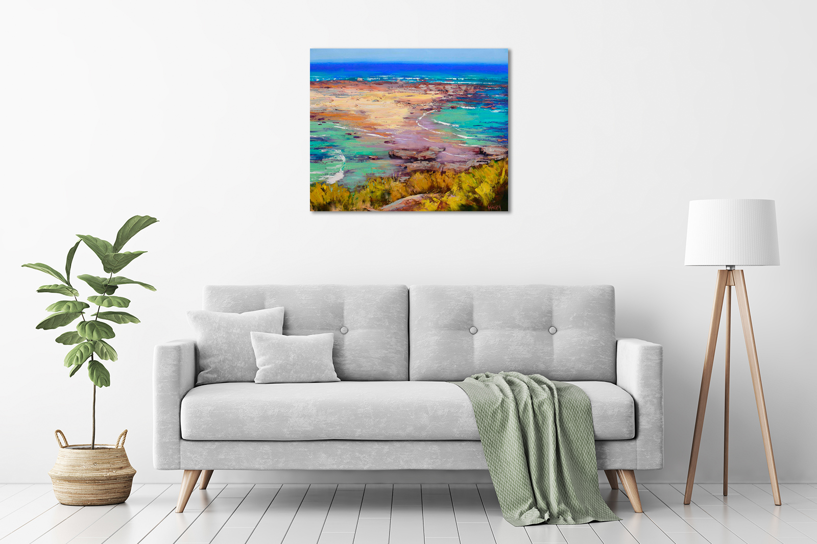 Rocks and Surf, Norah Head in a room