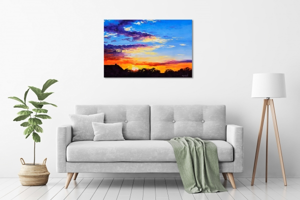 Rural Sunset in a room