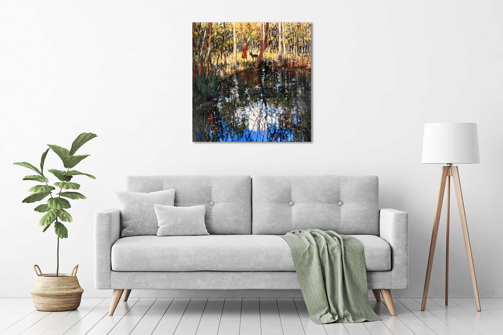 Trees Edge, Water World in a room