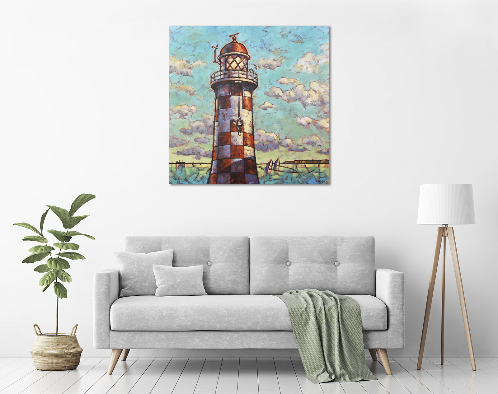 Antipodean Lighthouse Blues in a room