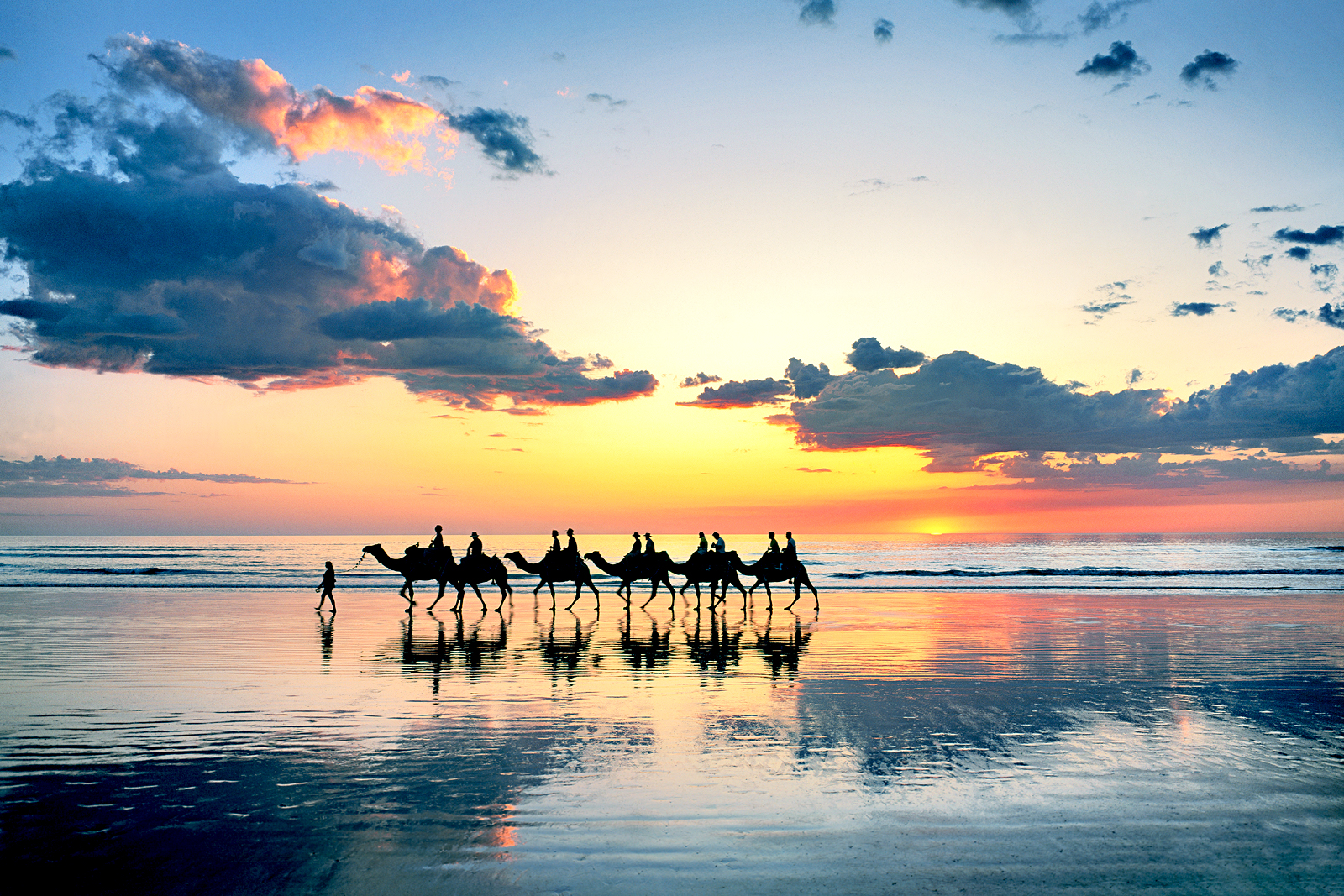 Camel Train, Cable Beach, Broome