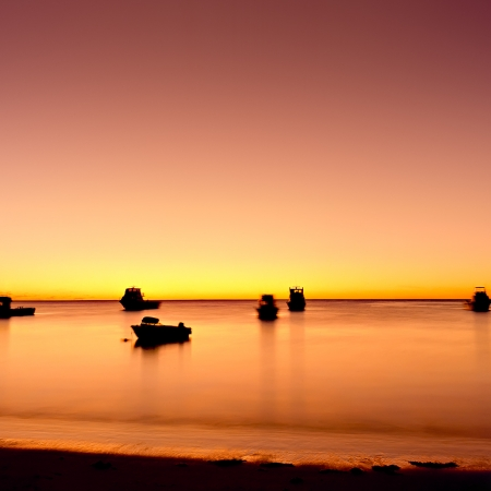 Fishing Boats at Sunset, Cervantes WA