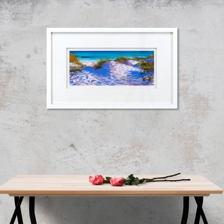 Dune Damsels Framed on a wall
