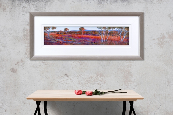 Evening Light Over the Hamersley Ranges Framed on a wall