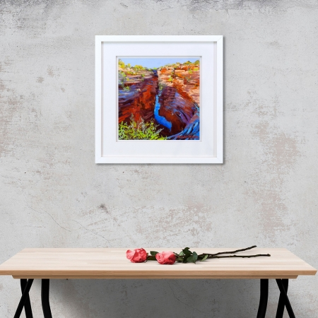 Joffre Creek Gorge Framed on a wall