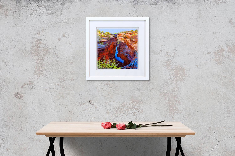 Joffre Creek Gorge Framed on a wall