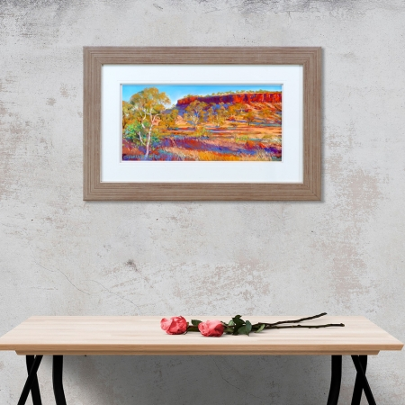 Karijini Red Framed on a wall