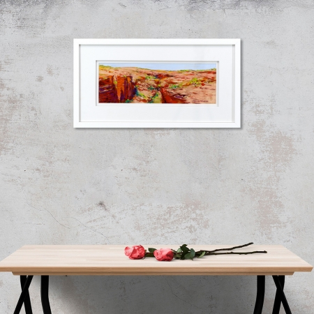 Knox Gorge Framed on a wall