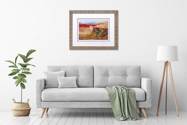 Munjina Gorge Framed in a room